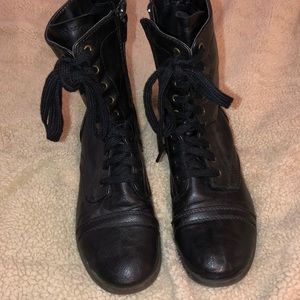 Shoes - Black combat boots off brand